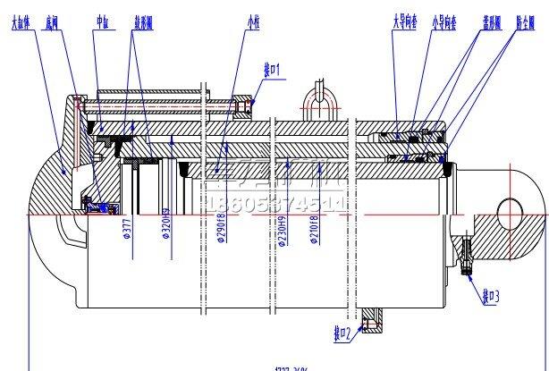 液压支架立柱的组成部